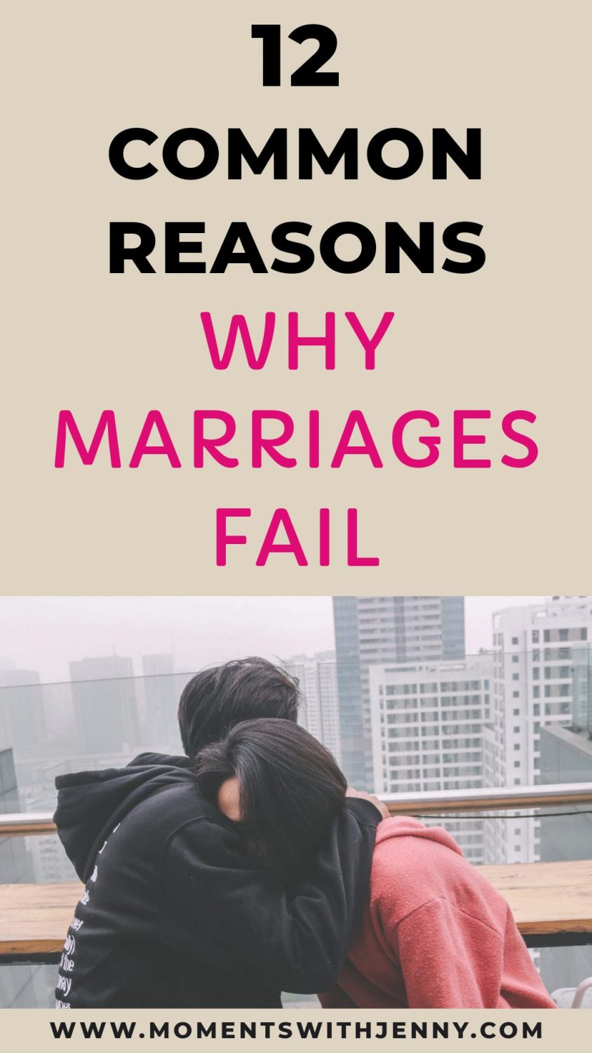 12 common reasons why some marriages fail