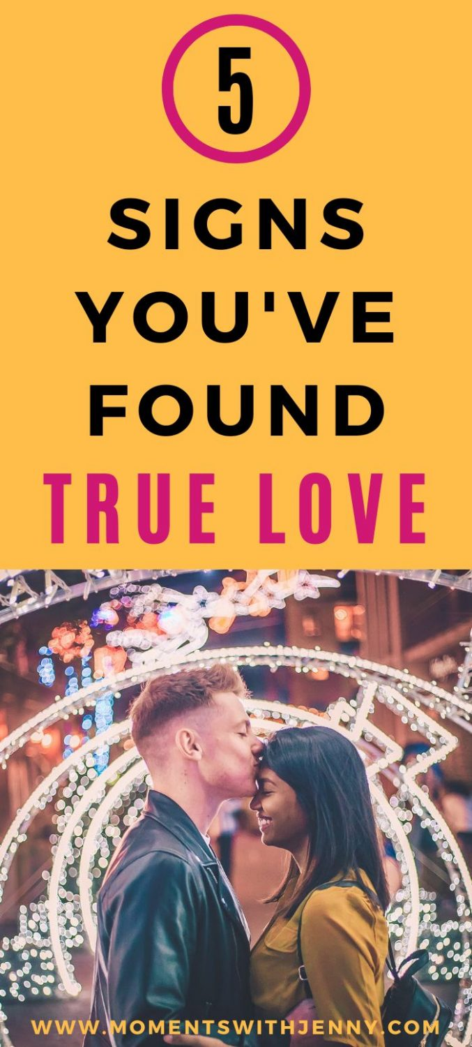5 signs you've found true love