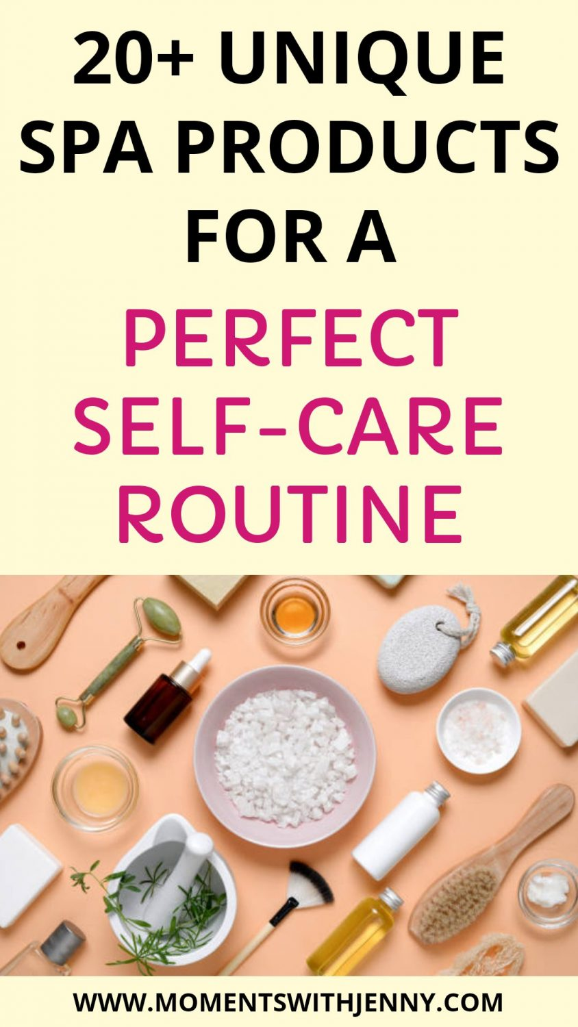 Unique spa products for a perfect self-care routine