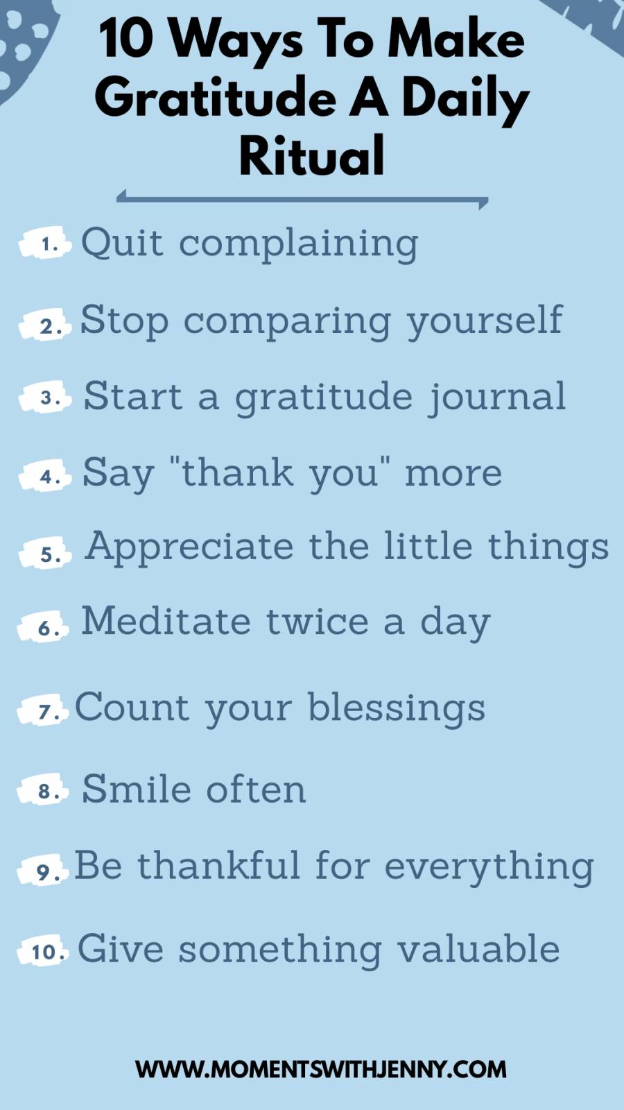 How to make gratitude a daily habit